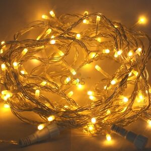 Details About Led Christmas Lights Fairy String Lighting By Qbis Warm White Blue Red