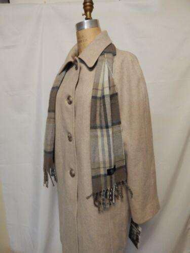 Tags Fog Scarf London New blend L With Oatmeal Plaid Wool Heather W Coat Walker Op06dap