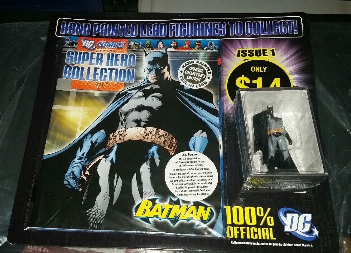 BRAND NEW EAGLEMOSS HAND PAINTED LEAD FIGURINE AND BATMAN DC COMIC BOOK