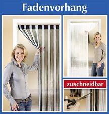 Fadenvorhang Sichtschutz Fensterstore Türvorhang Gardine schwarz/silber
