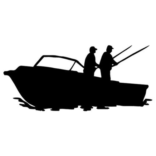 Two Fishermen Fishing Car Window Door Bumper Van Motorcycle Sticker Vinyl Decal