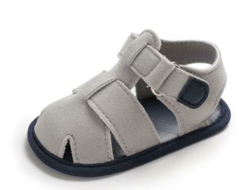 Newborn Baby Boy Pram Shoes Infant Inhouse Crawling Shoes Summer Sandals 0-18 M