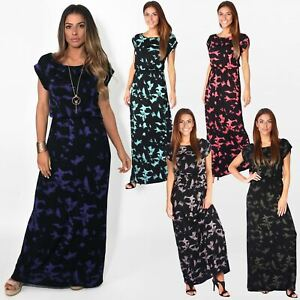 Womens-Ladies-Loose-Maxi-Dress-Long-Oversized-Summer-Jersey-Boho-Casual-Party