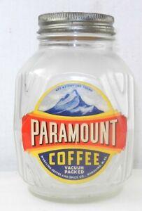 Paramount 1lb. Glass Coffee Jar - Wheeling, WV Coffee & Spice Co. ~ T755g