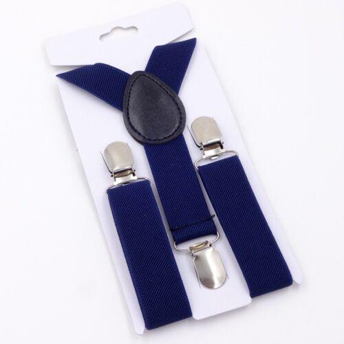 Childs Unisex 3 Clip-on Suspender Y-Back Straps Elastic Braces Belt Adjustable