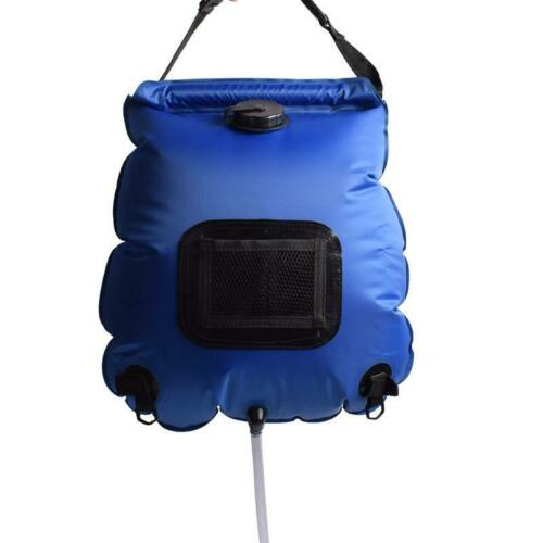 Portable Camping Shower Bag Outdoor Solar Heating Shower Hiking Water Bag 20L