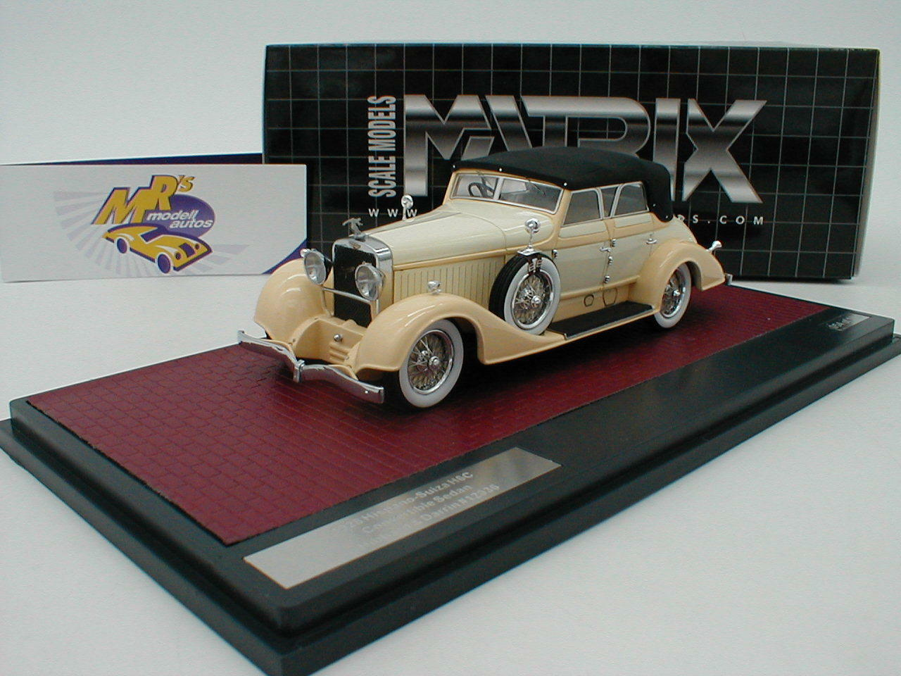 Matrix 50806-052 HISPANOSUIZA h6c Cabrio Hibbard manufactured 1928  Cream  1 43