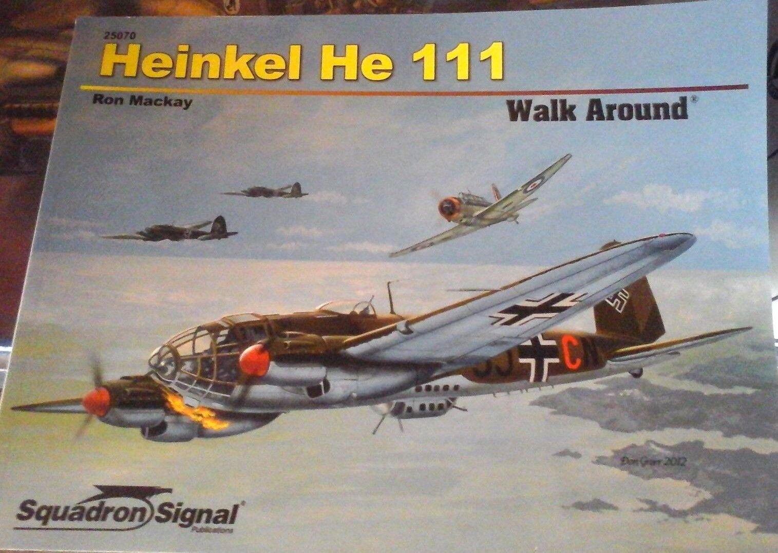 Squadron SIGNAL WALK AROUND n.25070  Heinkel HE 111 -by Ron mackay