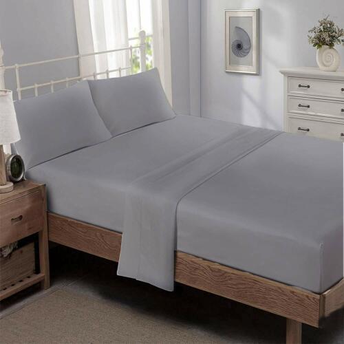 Niagara Sleep Solution Twin Bed Sheet Set 4 Pieces Black Silky Smooth Bridal Sat