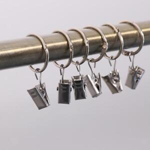 12pcs anneau pince de rideau de douche crochet pour. Black Bedroom Furniture Sets. Home Design Ideas
