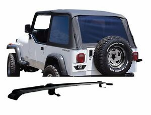Image Is Loading Rampage Frameless Tinted Soft Top Amp Header Channel