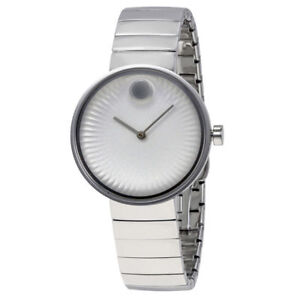 Movado Edge Silver Stainless Steel Sapphire Crystal Ladies Watch 3680012 New