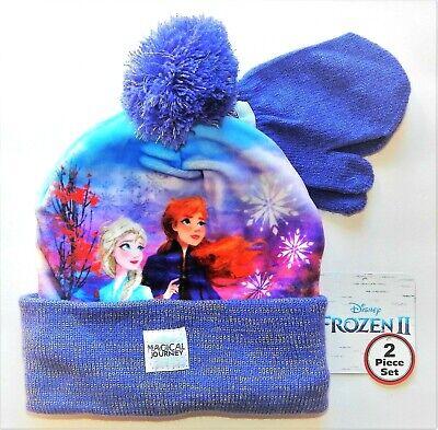 Disney Frozen Ensemble dhiver 2 ou 3 pi/èces pour Fille avec Bonnet /écharpe et Gants Motif Elsa Anna