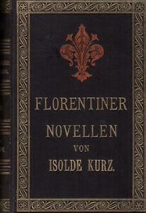 Bref, Isolde. Florentin Des Nouvelles. Göschen, 1893. Ehringhausen. Exlibris-afficher Le Titre D'origine Zz8apfzk-07172724-305790732