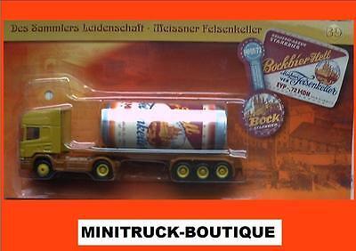 Meissner Felsenkeller Brauerei +++ Scania Tieflader mit Dose