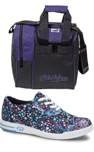 Womens Dexter KERRIE Multi-Color Bowling Shoes Sizes 6-11 /& Purple 1 Ball Bag