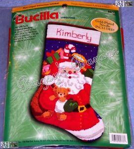 Needlepoint Christmas Stocking Kit.Details About Bucilla Santa Toys Longstitch Needlepoint Christmas Stocking Kit 60773