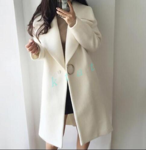 hiver pour Manteau femmes en laine revers ample mélange épais de wIqq45fxa