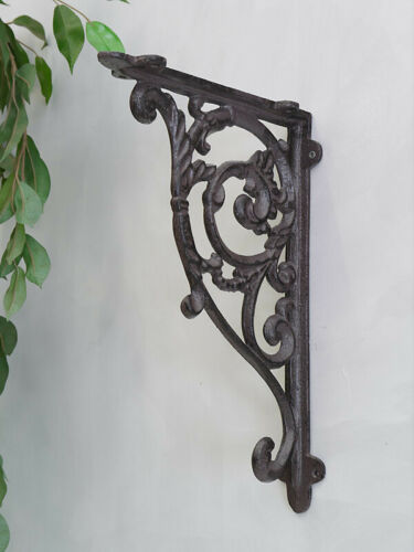 22cm 2 Regalwinkel Regalstützen Wandwinkel Antik Stil Gusseisen Bronze T 6369