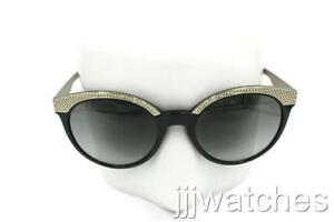 23cefe915c4ad New Versace Black and Gold Rounded Sunglasses Gray Gradient VE4330 ...