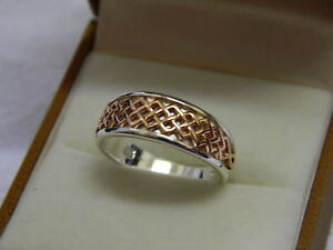 Clogau-Silver-amp-9ct-Welsh-Gold-Welsh-Royalty-Ring-size-M-RRP-149-00