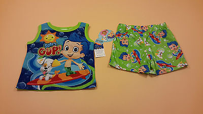 4T New Fire Resistant Bubble Guppies Toddler Boy Pajamas Gil Surf/'s Gup
