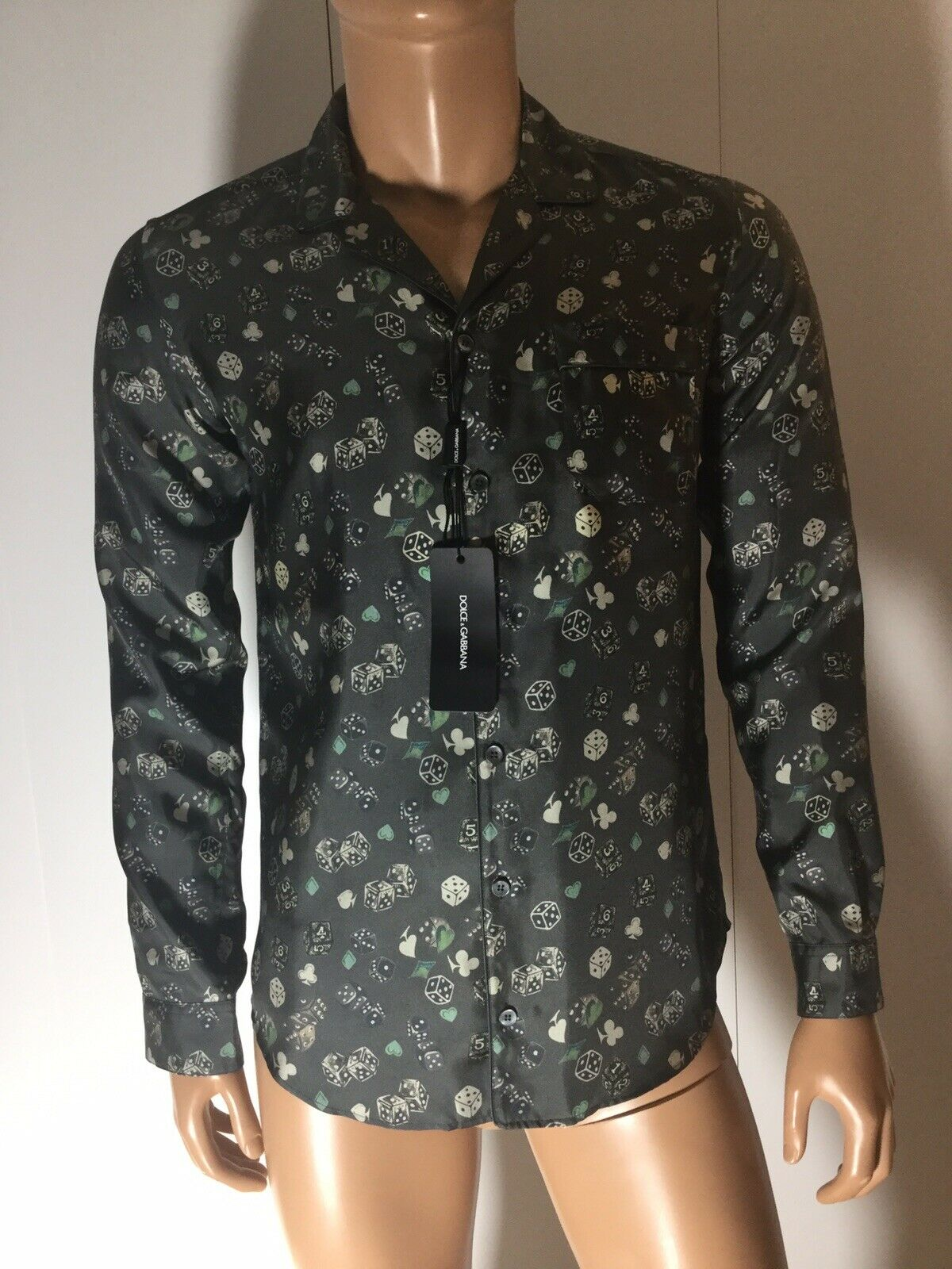 NWT $640 DOLCE /& GABBANA Purple Hedgehog SILK Pajama Shirt Sleepwear IT4// US S