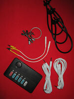 E-stim Electrosex Stainless Urethral Stretcher Controls,wires,3 Loops