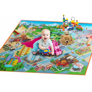 Baby Kid Play Crawl Mat Child Activity Soft Gym Creeping PE Blanket Rug Gift Toy