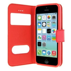 Etui Housse Coque Pochette View Rouge pour Iphone 5C