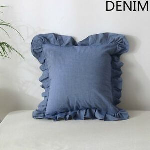 Throw-Pillow-Cover-Cushion-Case-Ruffle-Cotton-Soft-Sofa-Chair-Bed-Home-Decor-New
