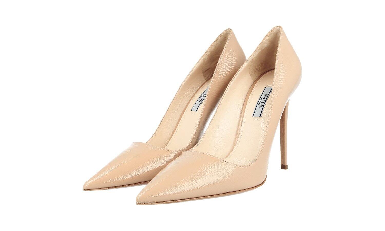 Auténtico de lujo Prada saffiano Zapatos De Salón 1I221F Cammeo Cammeo Cammeo nuevo nos 10 EU 40 40,5 Reino Unido 7  Esperando por ti