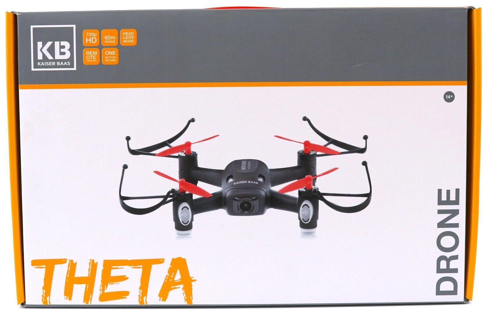 Kaiser Baas Theta Drone Quadcopter With Remote Control 720p HD Camera 60m Range