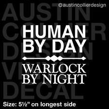 "5.5"" WARLOCK BY NIGHT vinyl decal car laptop sticker - pc gamer wow warcraft"