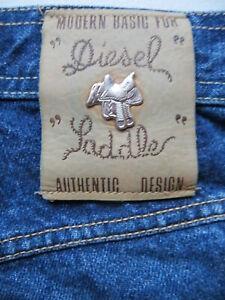 Diesel-Saddle-Jeans-Hose-W-33-L-32-KULT-Silber-Sattel-weiter-Oberschenkel