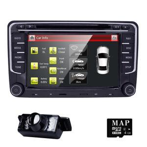 VW-Golf-Mk5-Mk6-POLO-Bluetooth-Radio-USB-Sat-Nav-GPS-DVD-Player-Stereo-Head-Unit