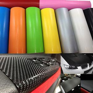 12-034-x50-034-3D-Texture-Carbon-Fiber-Wrap-Vinyl-Decal-Car-DIY-Sticker-Sheet-Roll-Film