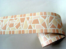 Readyroll selbstklebende Bordüre Border 5mx6cm Broken Mosaik peach 61985