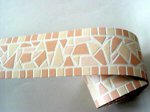 readyroll selbstklebende bord re border 5mx6cm broken mosaik peach 61985 ebay. Black Bedroom Furniture Sets. Home Design Ideas