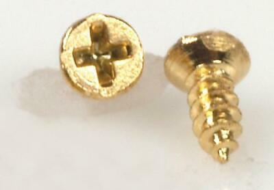 Dolls House Large Ornate T Hinges Antique Gold Miniature DIY Fittings Hardware