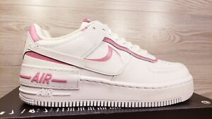 Nike Women S Air Force 1 Shadow White Pink Leather Fashion Ci0919