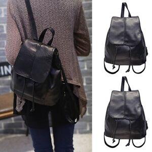 damen schule backpack reise kunstleder handtasche rucksack. Black Bedroom Furniture Sets. Home Design Ideas