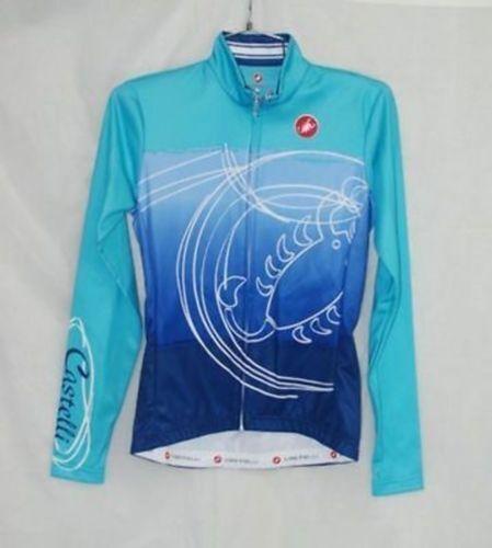 Castelli Femmes Femmes Femmes Donna Bleu Maillot Cyclisme Manches Longues TAILLE S NEUF dbe6a0