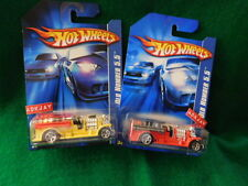 2007 Hot Wheels OLD NUMBER 5.5 - 2 Variations - Red & Yellow - Fire Trucks