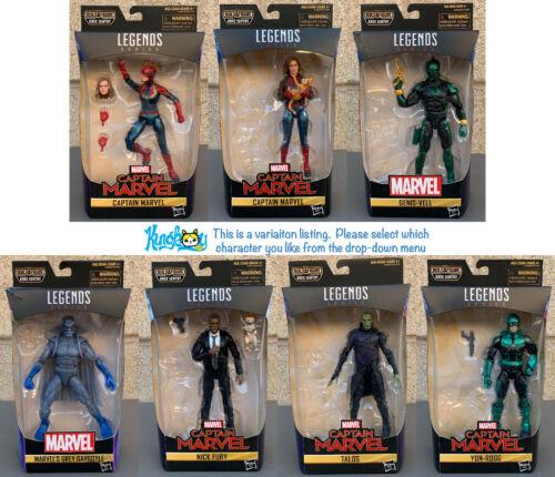 Hasbro Marvel Legends Captain Marvel NO BAF 6 Inch Action Figures Variation