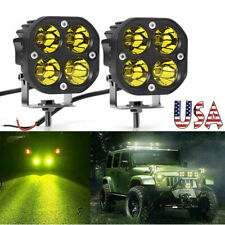 2x 3inch 40w Led Work Light Cube Pods Offroad Driving Fog Spot Amberyellow Lamp