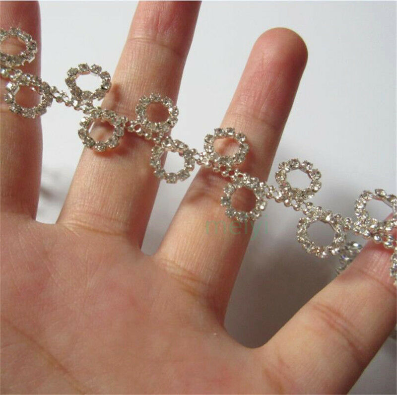 30cm rhinestone chain crystal gem trim ribbon sparkle