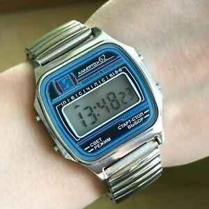 Blue-Elektronika-KAMERTON-62-Digital-Melody-NEW-Watch-Alarm-Men-Day-Date-Chrono