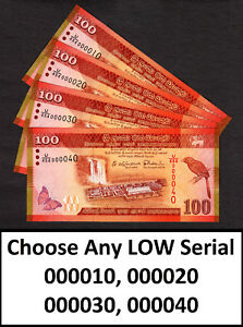 Sri Lanka 100 Rupees 2015 CHOOSE ANY LOW Serial 000012 to 000097 Pick-125b UNC