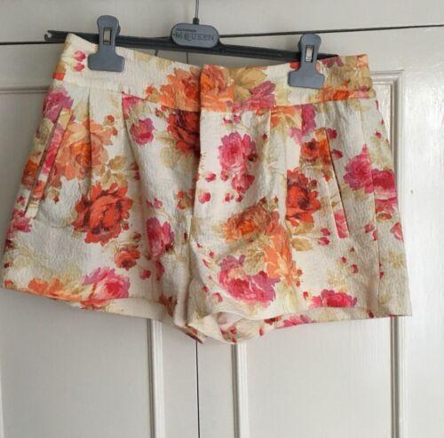 Shorts Floral maat Bnwt M Zara Fwx5OnTPO